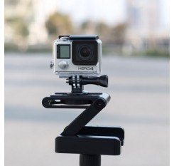 Folding Z Shape Camera Desktop Stand Holder Plate Gopro Tripod