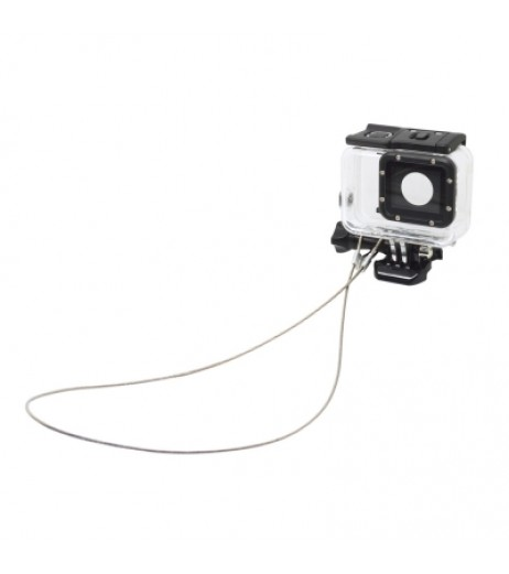 Accessories 30CM Stainless Steel Lanyard Tether for GoPro Hero