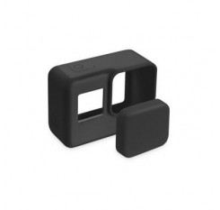Pro Accessories Action Camera Case Protective Silicone Case Skin +Lens Cap cover for GoPro Hero 5 Bl