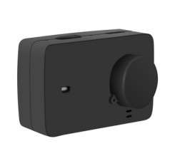 Silicone Rubber Protective Housing Case + Lens Cap Cover for Yi 4K/4K+ Action Camera 2