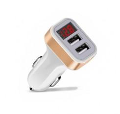SpedCrd Dual USB Car Charger  5V 2.1A Digital Display Car Adapter