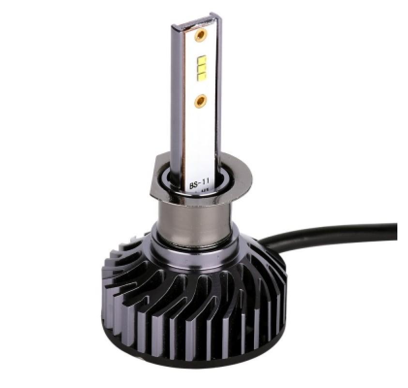 2PCS H1 LED Headlight Bulbs Auto Headlamp 8000LM 72W with ZES Chip