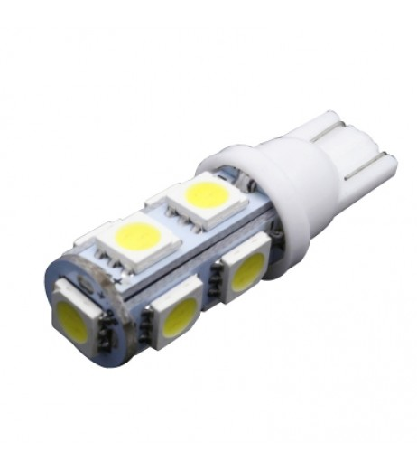 10PCS Super  T10 194 168 W5W 5050 9SMD 9 Led Lights Indication Lamps 12V