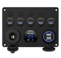 5 Gang Switch Panel