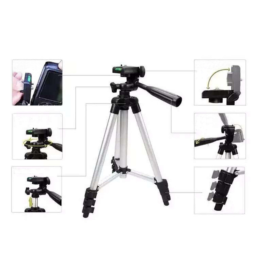 3110 Extendable Stretch Universal Portable Digital Camera Camcorder Tripods Stand Lightweight Aluminum for Canon Nikon Sony