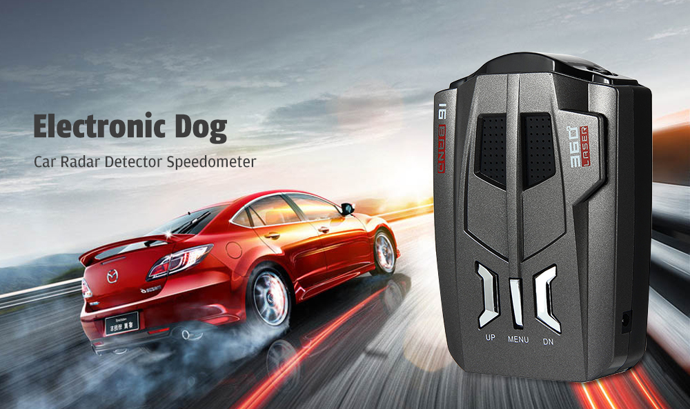 Anti-Interference / Accurate Reception / Automatic Monitoring Frequency Changing Electronic Dog Car Radar Detector Speedometer